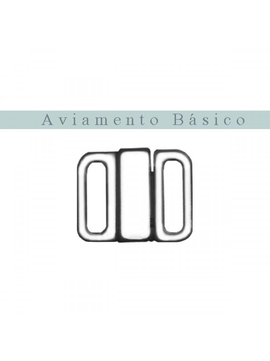 FECHO NIQUEL 15mm **COM TRAVA**  - 100 PEÇAS