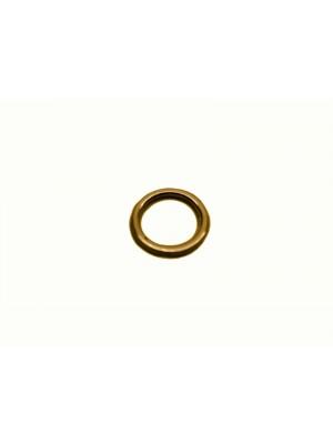 Argola metal - de 07mm com 100 unidades ouro velho