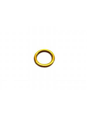 Argola metal - de 07mm com 100 uni - banhado em ouro 24k