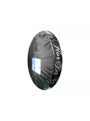 Flor - Elástico de 30mm com 20m - PRETO COM BRANCO