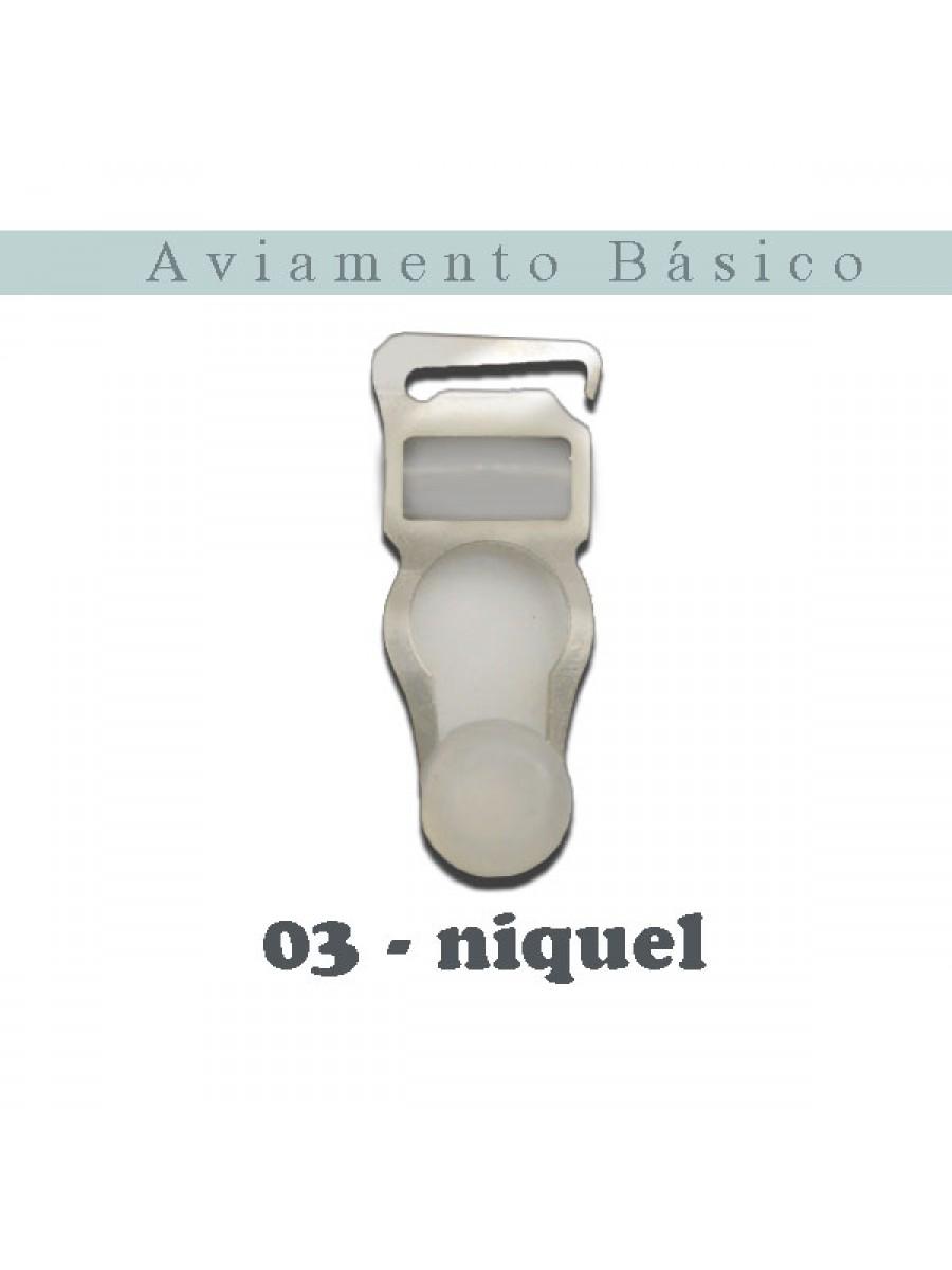 LIGA 03 - TRANSPARENTE/NIQUEL - COM 10 UNIDADES