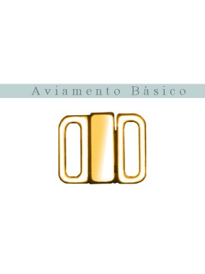 FECHO METAL 10MM - OURO 24K **COM TRAVA** - C/ 10 UNI