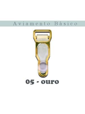 LIGA 05 - TRANSPARENTE E OURO - com 10 unidades
