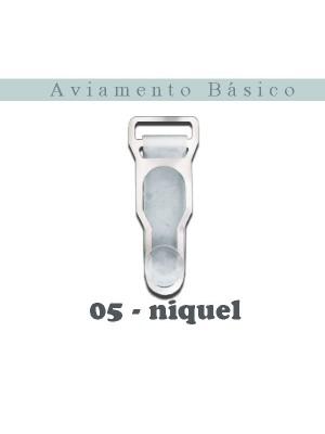 LIGA 05 - TRANSPARENTE/NIQUEL- COM 10 UNIDADES